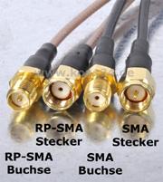 RP-SMA-Stecker und SMA-Stecker