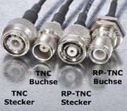 RP-TNC-Stecker und TNC-Stecker