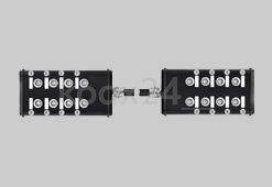2 Anschlussboxen mit RG174 verbunden / 10m