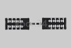 2 Anschlussboxen mit RG174 verbunden / 20m